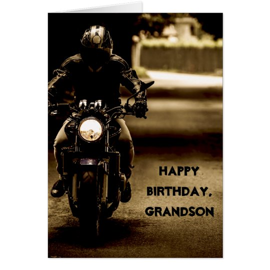 Custom Name - Birthday for Boy - Motorcycle
