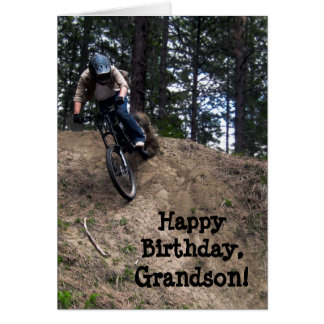 Custom Name - Birthday for Boy - Mountain Bike Card