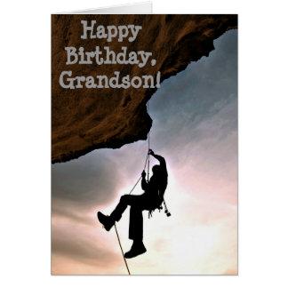 Custom Name - Birthday for Boy - Rock Climbing Greeting Card
