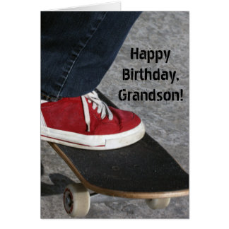 Custom Name - Birthday for Boy - Skateboarder Card