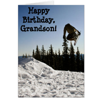 Custom Name - Birthday for Boy - Snowboarder Card