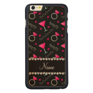 Custom name black bachelorette cocktails rings iPhone 6 plus case