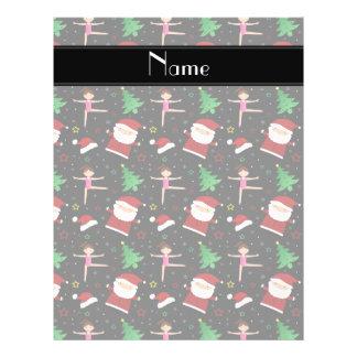 Custom name black christmas gymnastics santas 21.5 cm x 28 cm flyer