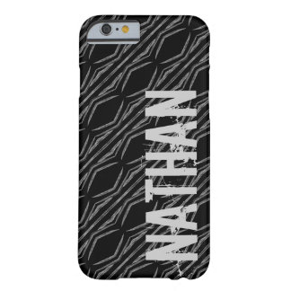 Custom Name Black Silver Geometric For Him G607 Barely There iPhone 6 Case