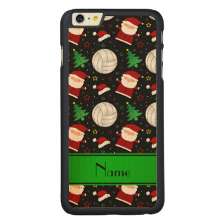 Custom name black volleyball christmas pattern iPhone 6 plus case