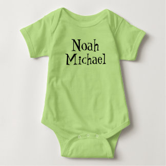 Custom name body suit baby bodysuit