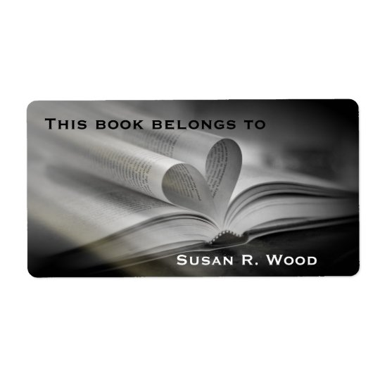 Custom Name Book Lovers Book Labels