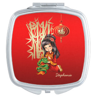 Custom Name Chinese New Year Gift Compact Mirrors