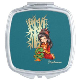 Custom Name Chinese New Year Gift Compact Mirrors