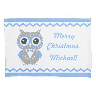 Custom Name Christmas Boy Pillowcase, Reversed Pillowcase