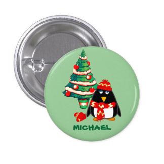 Custom Name. Christmas Gift Buttons