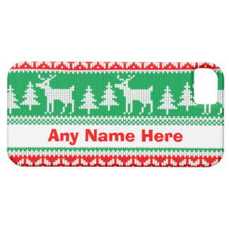 Custom Name Christmas Jumper iPhone Case
