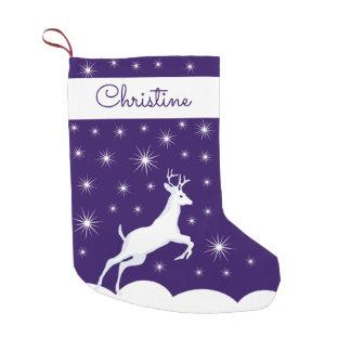 Custom Name Christmas Stocking Christmas Reindeer