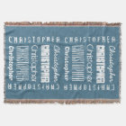 Custom Name CHRISTOPHER or ANY NAME Blue A11 Throw Blanket