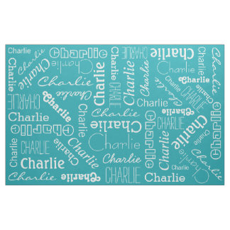 Custom Name & Color fabric