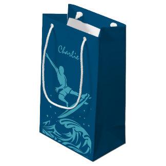 Custom name & color Surfer gift bag