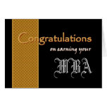 CUSTOM NAME Congratulations - Earning Your MBA Greeting Card