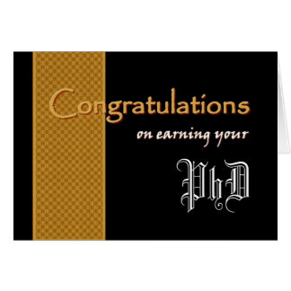 CUSTOM NAME Congratulations - Earning Your PhD Greeting Card