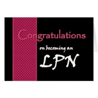 CUSTOM NAME Congratulations - LPN Greeting Cards