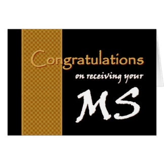 CUSTOM NAME Congratulations - Master of Science Greeting Card