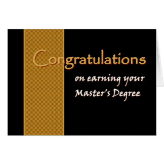 CUSTOM NAME Congratulations - Master s Degree Greeting Cards