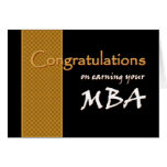 CUSTOM NAME Congratulations - MBA Greeting Card