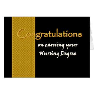 CUSTOM NAME Congratulations - Nursing Degree Card