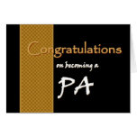 CUSTOM NAME Congratulations Physician's Assistant Greeting Card