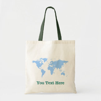 Custom Name Earth Globe Geography Tote