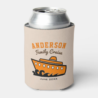Custom Name Family Cruise Vacation Can Cooler