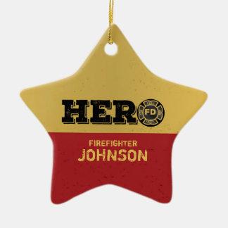 Custom Name, Firefighter Hero Christmas Ornament