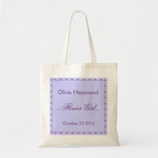 CUSTOM NAME Flower Girl Wedding Bag PURPLE