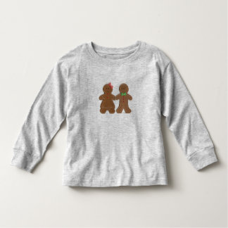 Custom Name Gingerbread Cookie Boy & Girl Toddler Toddler T-Shirt