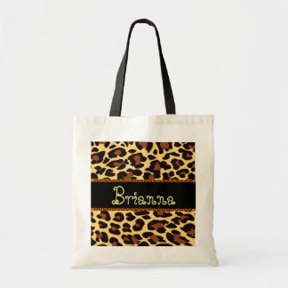 Custom Name Gold Chocolate Black Leopard