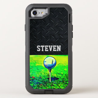 Custom Name Golfing Diamond Plate Case