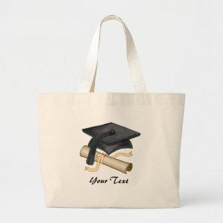 Custom Name Grad Cap Large Tote Bag