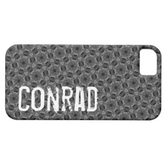 Custom Name  Gray Geometric G604 iPhone 5 Cover