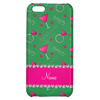 Custom name green bachelorette cocktails rings cover for iPhone 5C