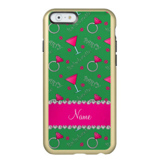 Custom name green bachelorette cocktails rings incipio feather® shine iPhone 6 case