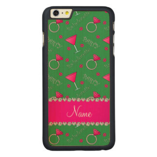 Custom name green bachelorette cocktails rings iPhone 6 plus case