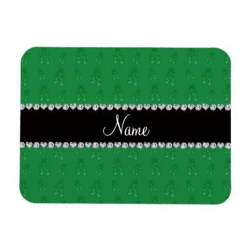 Custom name green ballet shoes flexible magnets