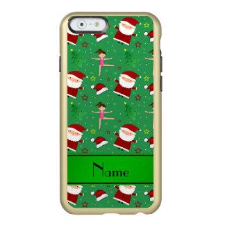 Custom name green christmas gymnastics santas incipio feather® shine iPhone 6 case