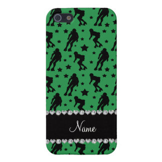 Custom name green roller derby stars iPhone 5 cover