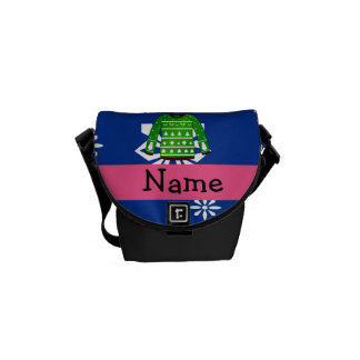 Custom name green ugly christmas sweater courier bags