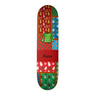 Custom name green ugly christmas sweater custom skate board