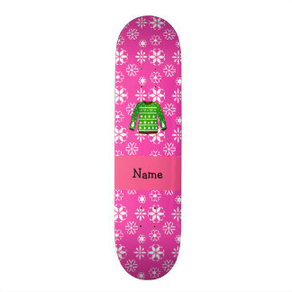 Custom name green ugly christmas sweater pink 18.1 cm old school skateboard deck