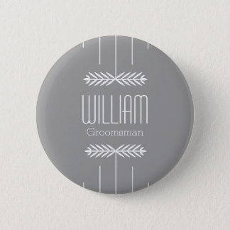 Custom Name Groomsman Button