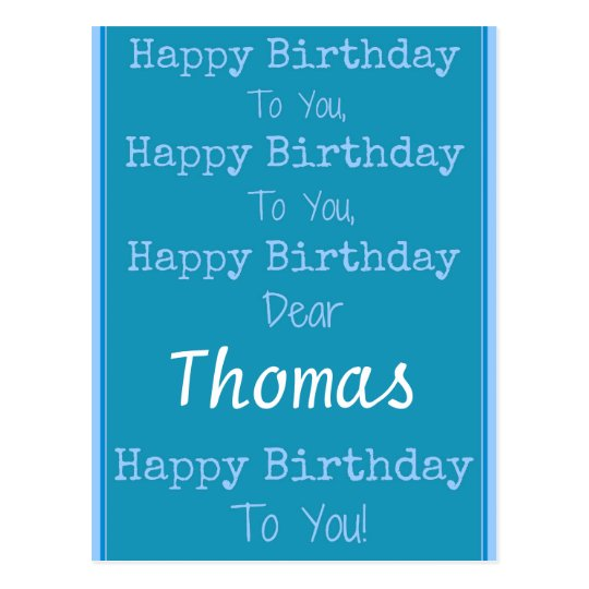 Custom Name Happy Birthday Song Postcard