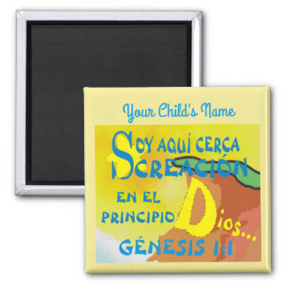 Custom Name Here By Creation  Esp Square Magnet