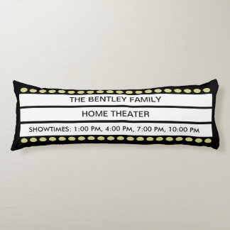 Custom Name Home Movie Theater Marquee Personal Body Cushion